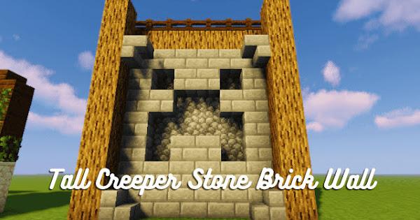 Tall Creeper Stone Brick Wall