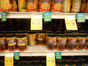 Photo: beans are a staple as well. I keep dry beans in the pantry but with a coupon and the weekly deal I couldn't help but stock up. Beans make a great soup when you need to warm up.