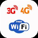 Free 5G, 4G, 3G, WiFi Data Speed Test, Speed Check icon