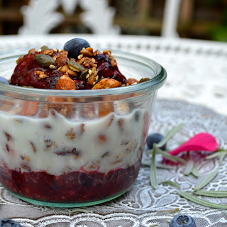 Cinnamon Granola With A Mixed Berry Compote.