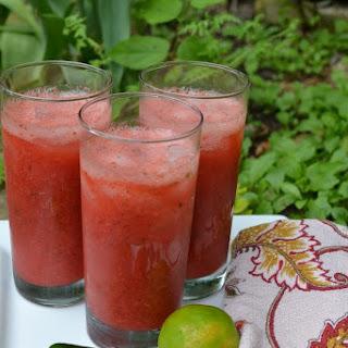 Strawberry Jalapeno Vodka Limeade.