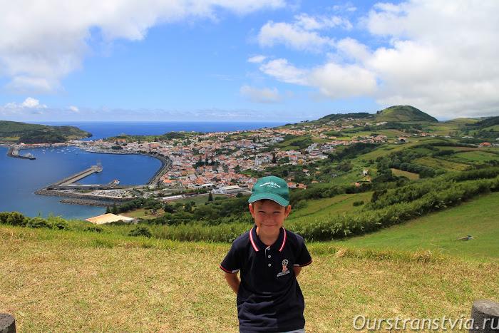 Вид на столицу острова Фаял - Орта