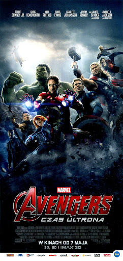 Przód ulotki filmu 'Avengers: Czas Ultrona'