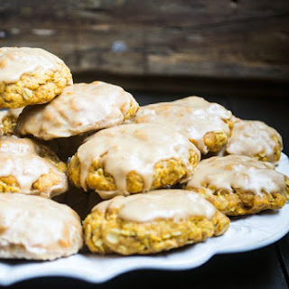 Pumpkin Oatmeal Cookies w/ Espresso Glaze