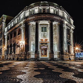 Old market place-Quebec City by Clermont Poliquin - City,  Street & Park  Historic Districts ( night lights, pwc83: night light )
