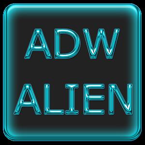 ADW Alien Abstract Aqua Theme