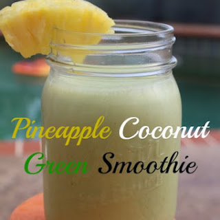 Pineapple Coconut Green Smoothie.