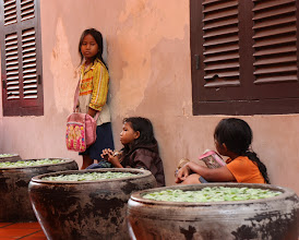 Photo: Year 2 Day 43 -  Kid Vendors in The Passageway in Siem Reap
