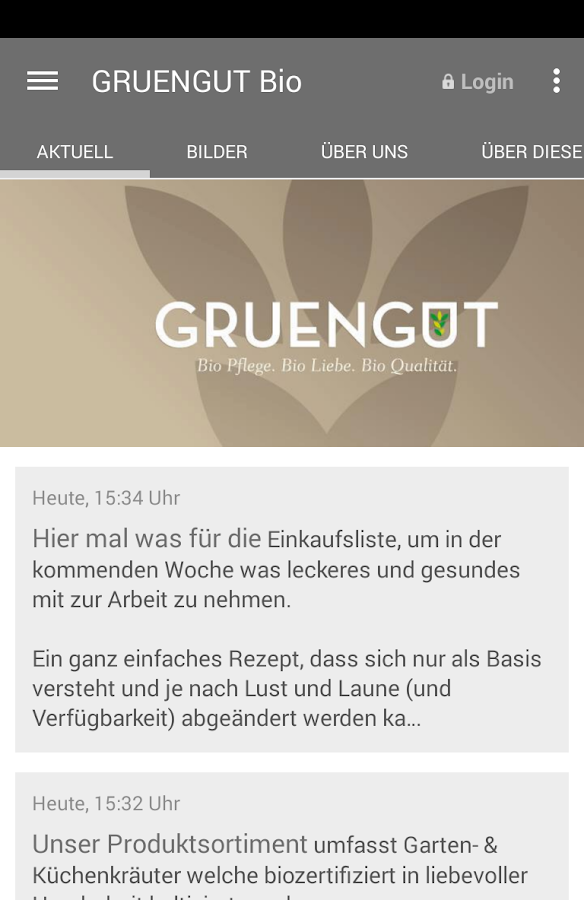 GRUENGUT – Screenshot