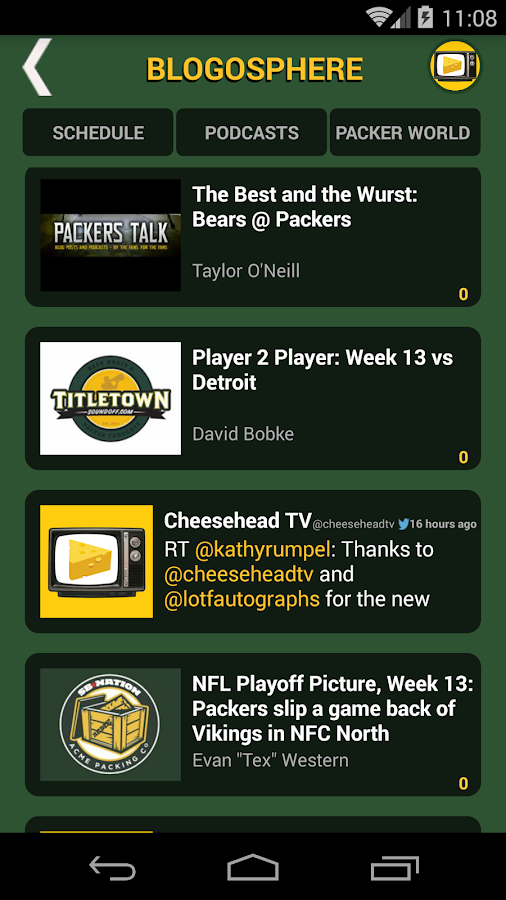 Cheesehead TV- screenshot