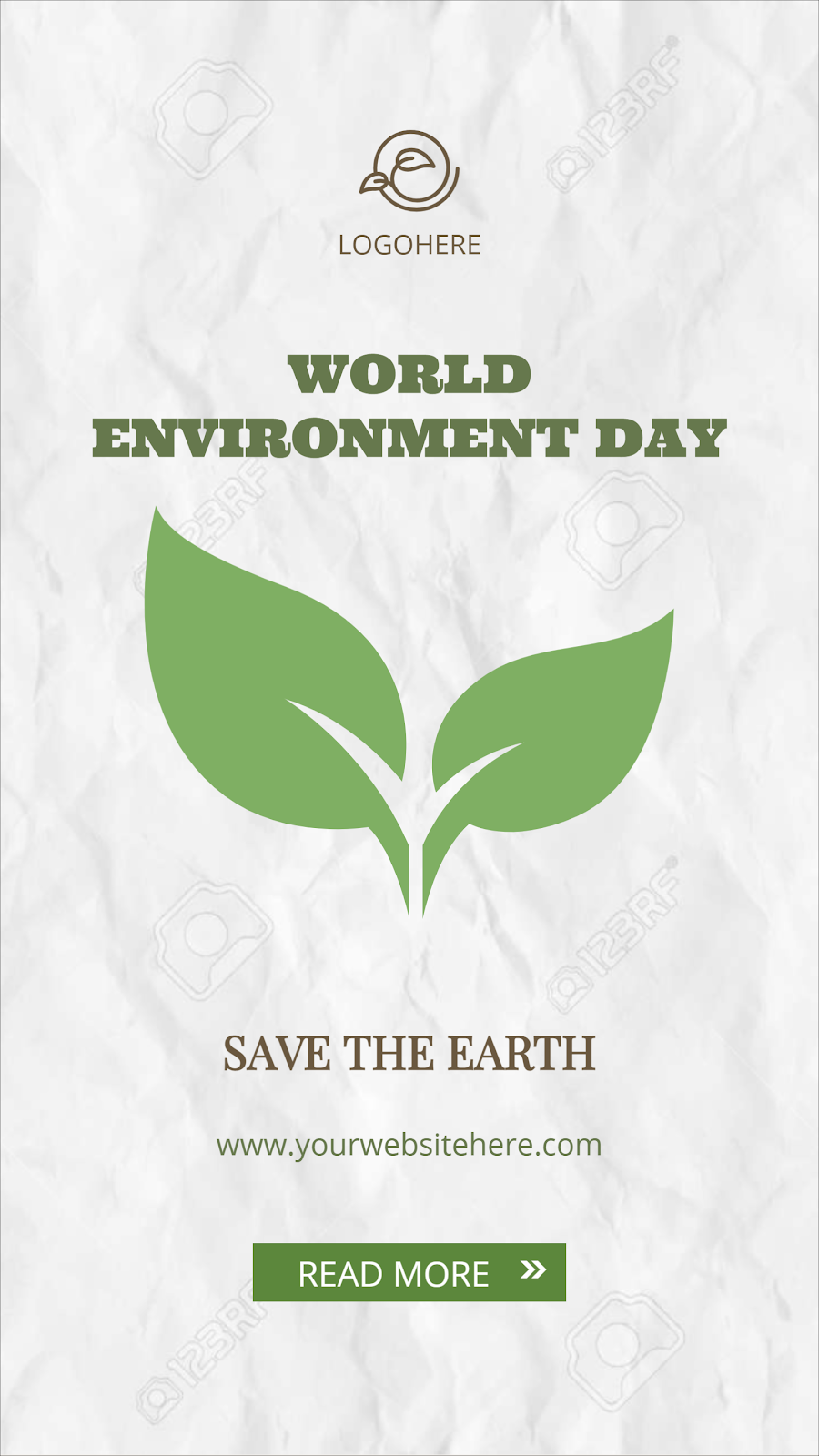 Green marketing template design for World Environment Day by Designmaker.