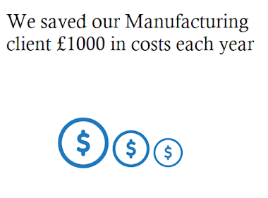 Manufacturing Cost savings