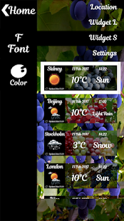 Grape Widget Clock Weather - náhled