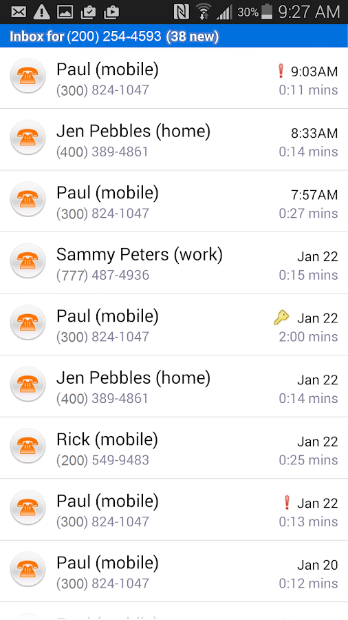 AT&T Voicemail Viewer- screenshot