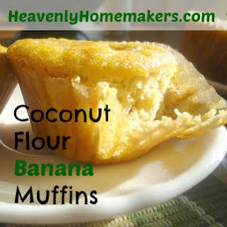 Coconut Flour Banana Muffins.