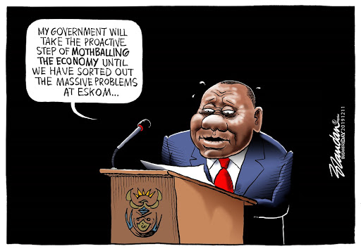 CARTOON: Ramaphosa's Eskom nightmare