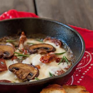 Mushroom, Sun Dried Tomato and Mozzarella Dip
