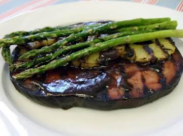Ham Steak w/ Maple Grilled Pineapple & Asparagus