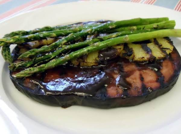Ham Steak W/ Maple Grilled Pineapple & Asparagus
