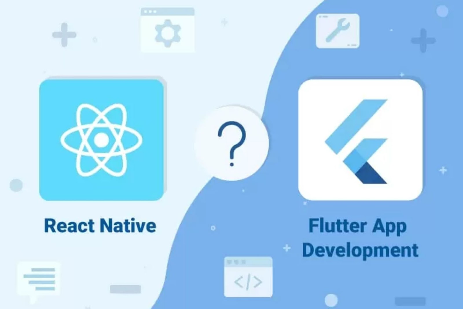 React Native vs flutter app development