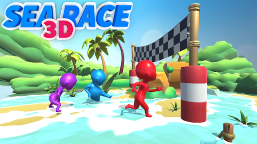 Sea Race 3D - Fun Sports Game Run 3D  screenshots 1