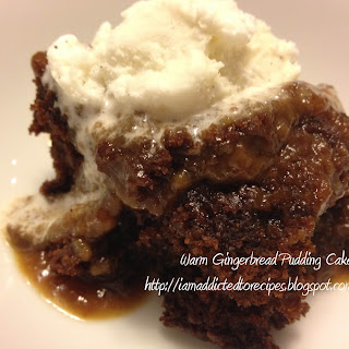 Warm Gingerbread Pudding Cake