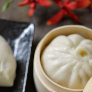 Vegetarian Chinese Steamed Buns with Bok Choy and Mushrooms 蔬菜包.