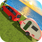 Chained Car : Camper Van Truck Driving Simulator