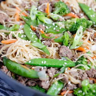 Ground Beef & Noodle Stir Fry.