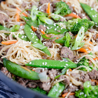Ground Beef & Noodle Stir Fry.