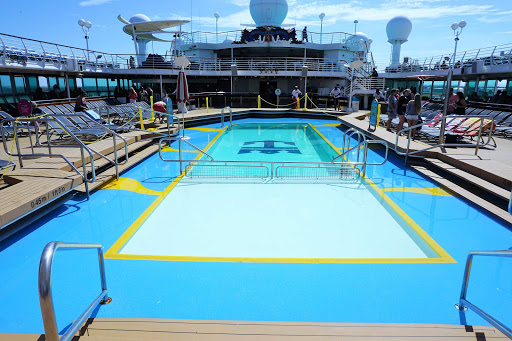 The main pool on Royal Caribbean's Majesty of the Seas.