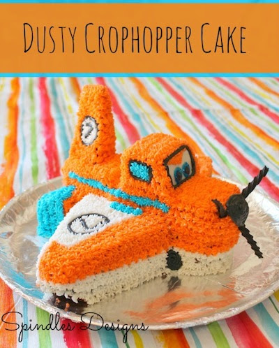 Dusty Crophopper Cake by Spindles Designs