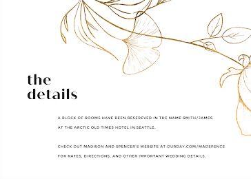 Wedding Stay Details - Wedding Invitation template