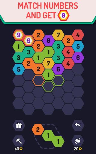 UP 9 - Hexa Puzzle! Merge Numbers to get 9 apkdebit screenshots 1