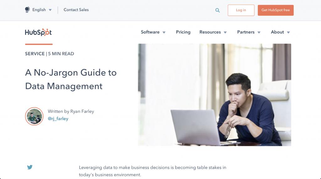 Ein Leitfaden zum Datenmanagement ohne Fachchinesisch – HubSpot