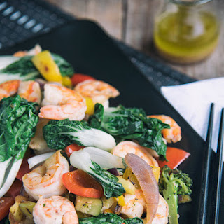 Shrimp With Bok Choy Stir-Fry.