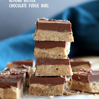 Chocolate Almond Butter Fudge Bars