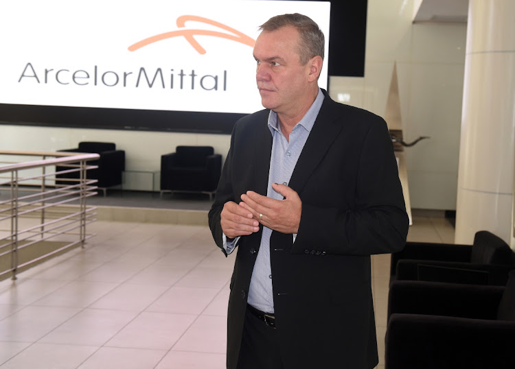 ArcelorMittal SA CEO Kobus Verster at the company's annual results presentation at the JSE in Sandton. Picutre: FREDDIE MAVUNDLA