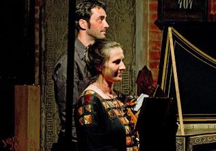 """Photo: Konzertprogramm """"Entzückende Lust - Abendmahlskantate von Telemann"""" in der Besetzung mit Waltraud Gumz (Viola da Gamba) und Sebastian Glöckner am Cembalo im Münster zu Neukloster."""