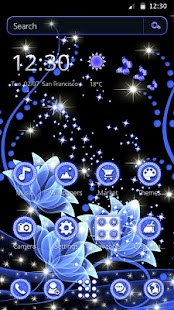Dazzling Flowers Theme - náhled
