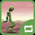Green Alien Dance - Logo