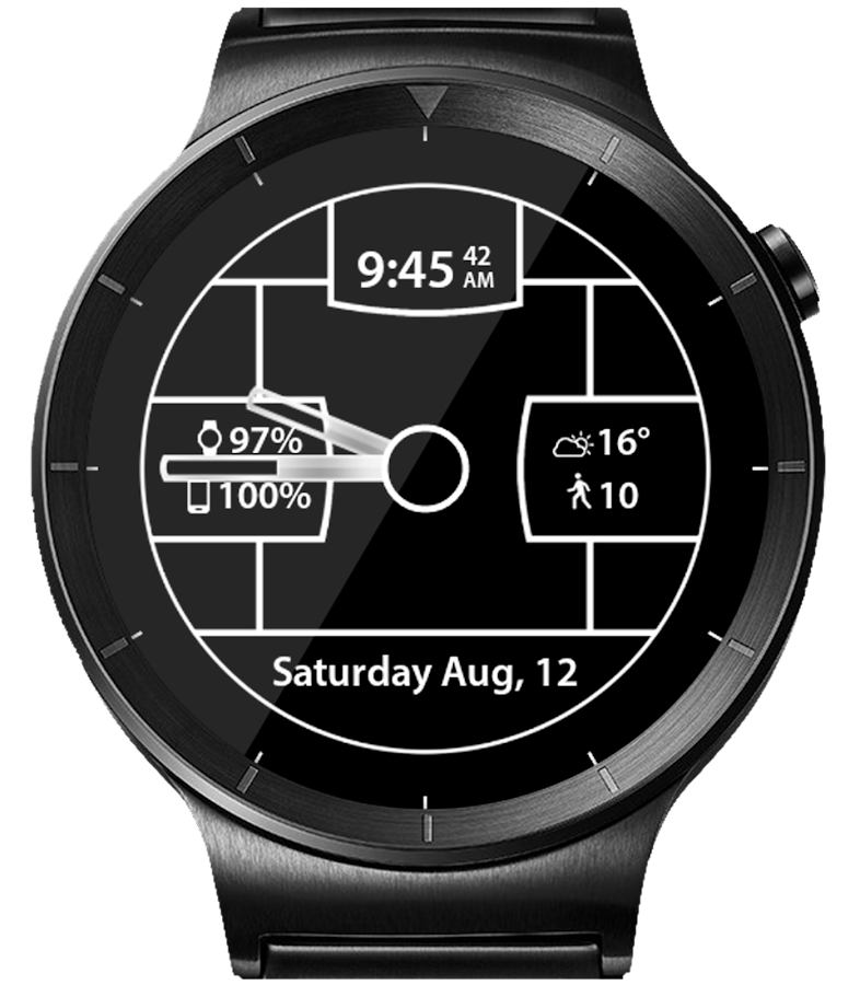 Carbon Fiber HD Watch Face- screenshot