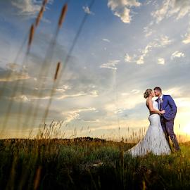 Sunset over Africa by Lood Goosen (LWG Photo) - Wedding Bride & Groom ( bride, love, wedding dress, lovely, groom, wedding photography, wedding photographer, bride groom, wedding day, wedding photographers, sunsets, brides, grooms, bride and groom, wedding )