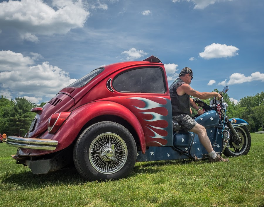 Bug Bike by Ron DiLaurenzio - Transportation Motorcycles ( vw, bike, stars, shorts, wire wheels )