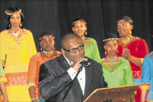 KEYNOTE: Ali Mpofu and  some of the choir members at the Sing Africa Sing event last year.