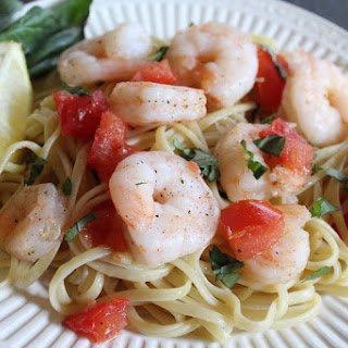 Lemon Basil Garlic Shrimp Pasta