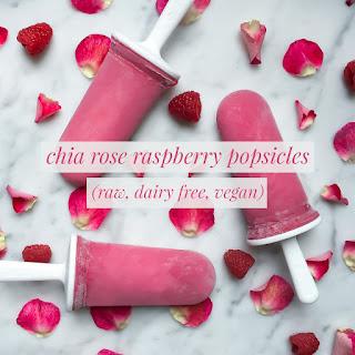 Rose Raspberry Chia Popsicles Recipe
