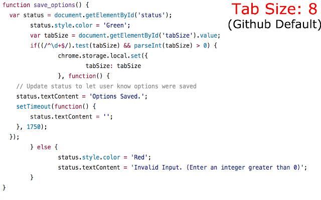 Github Tab Size Manager
