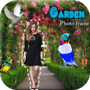 Garden Photo Frame : Photo Cut Paste Editor