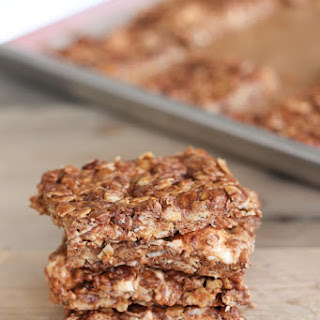 Chocolate Oat Crispy Bars.